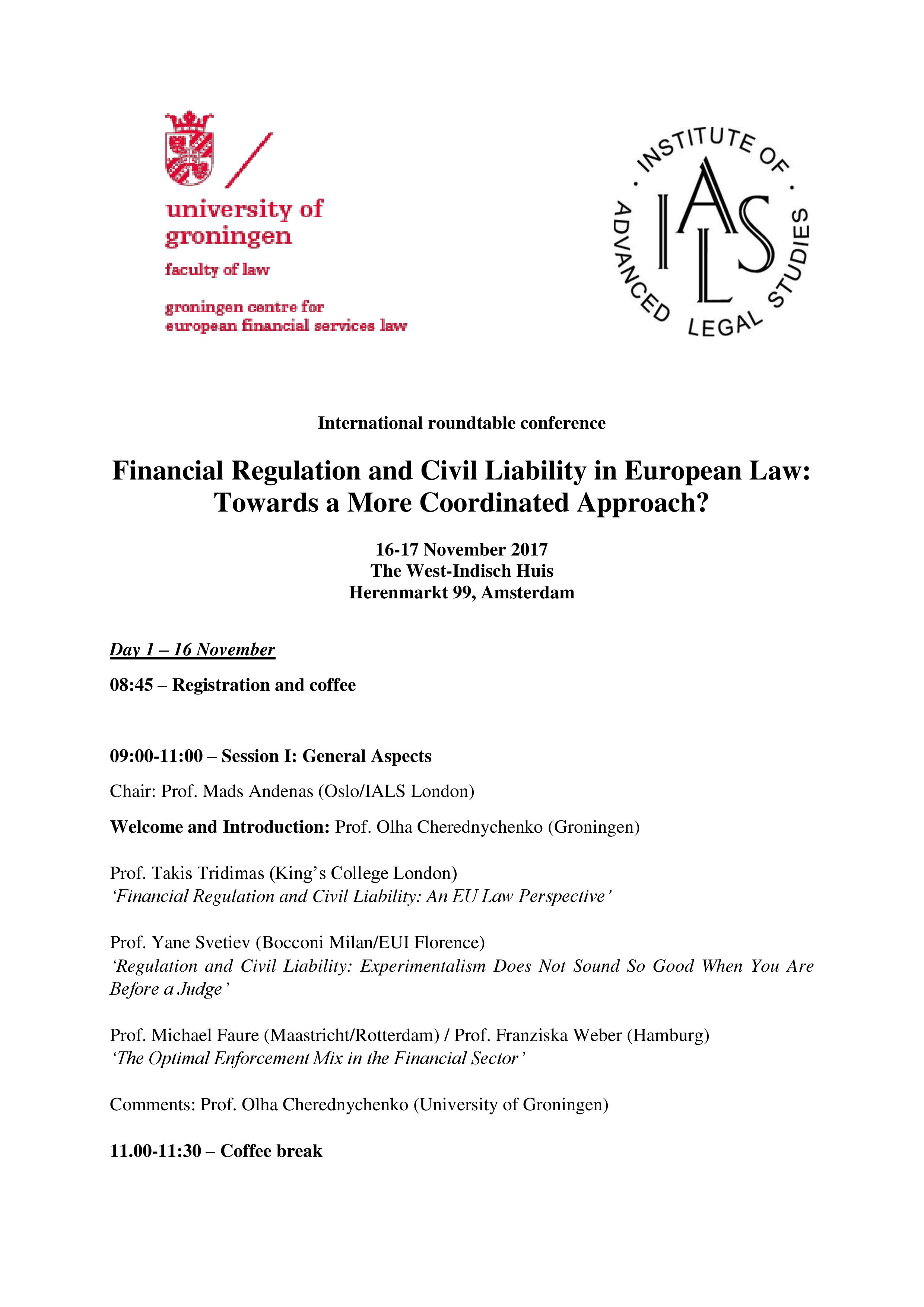 Conference Programme Page 1