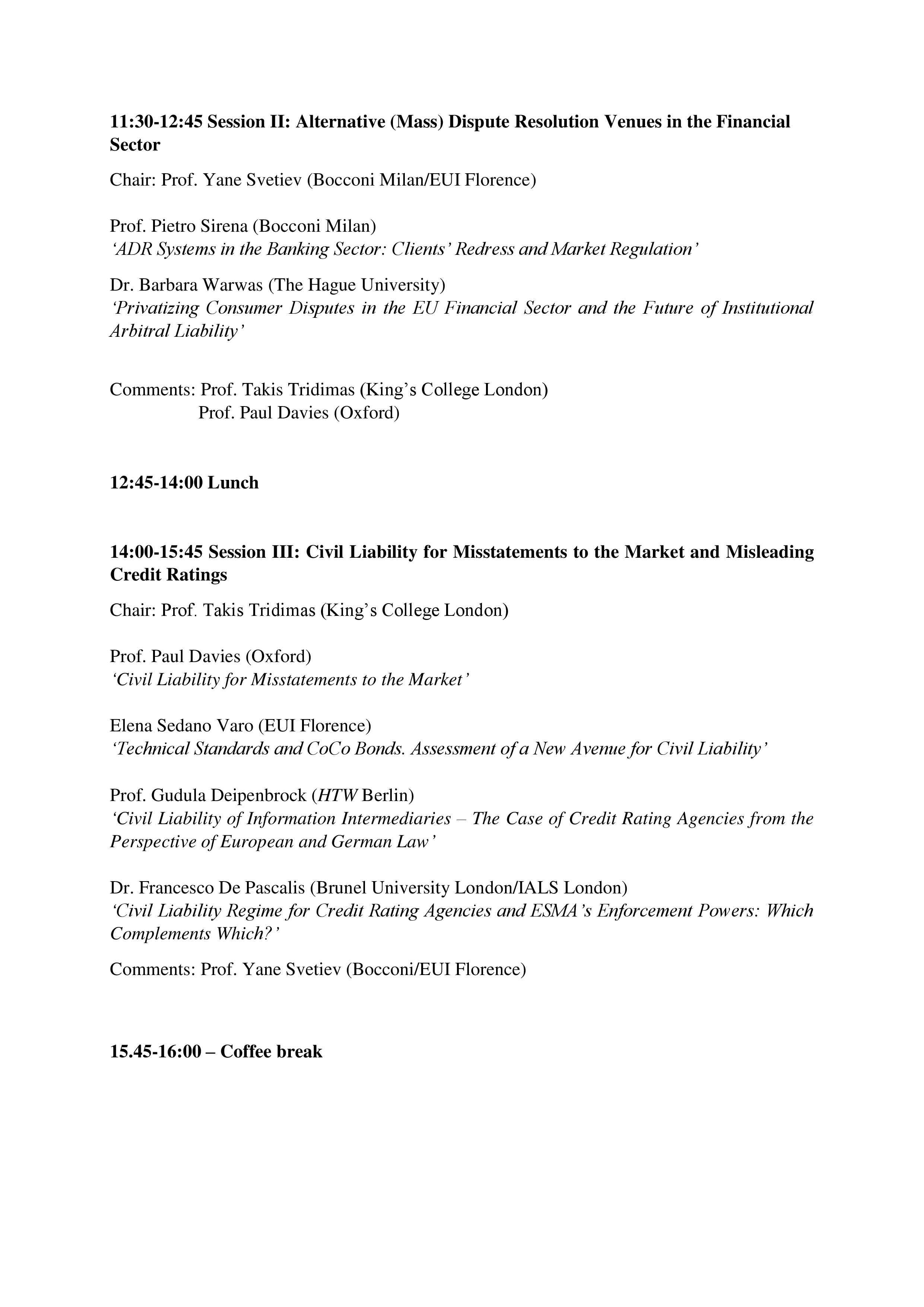 Conference Programme Page 2