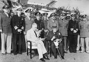 FDR at Casablanca Conference 1943