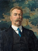 Portrait of Nanne Ottema, Oil on hardboard, J.C. Tiele, ca. 1922, Collection Ottema-Kingma Stichting