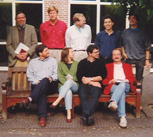Group picture of 1993! Good to see that Gosse has always been the tallest member of the group.