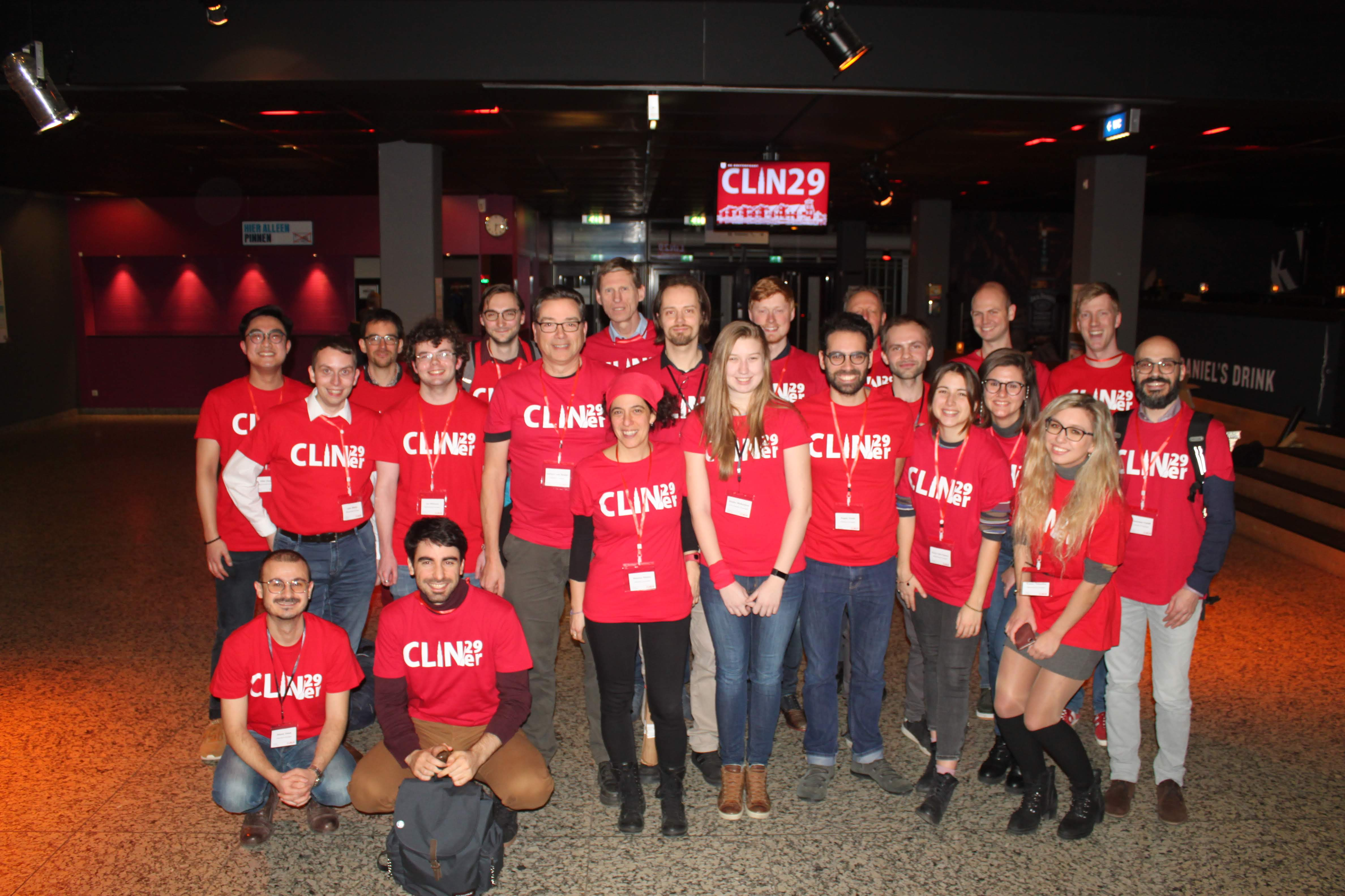 Group picture of the CLIN29 organization. Lots of help from our great master students!
