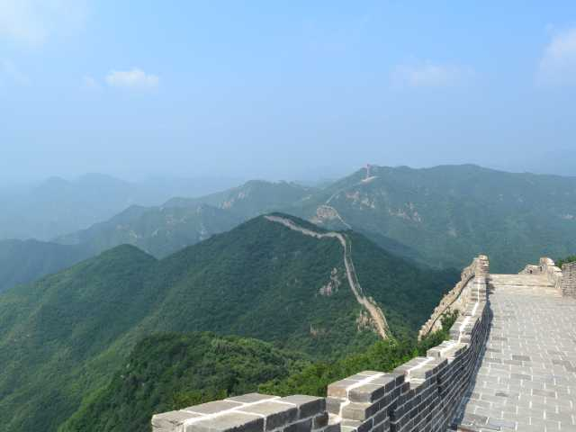 An unrestored part of The Great Wall