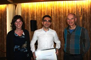 Marko Seslija together with his supervisors Prof J.M.A. Scherpen and Prof A.J van der Schaft