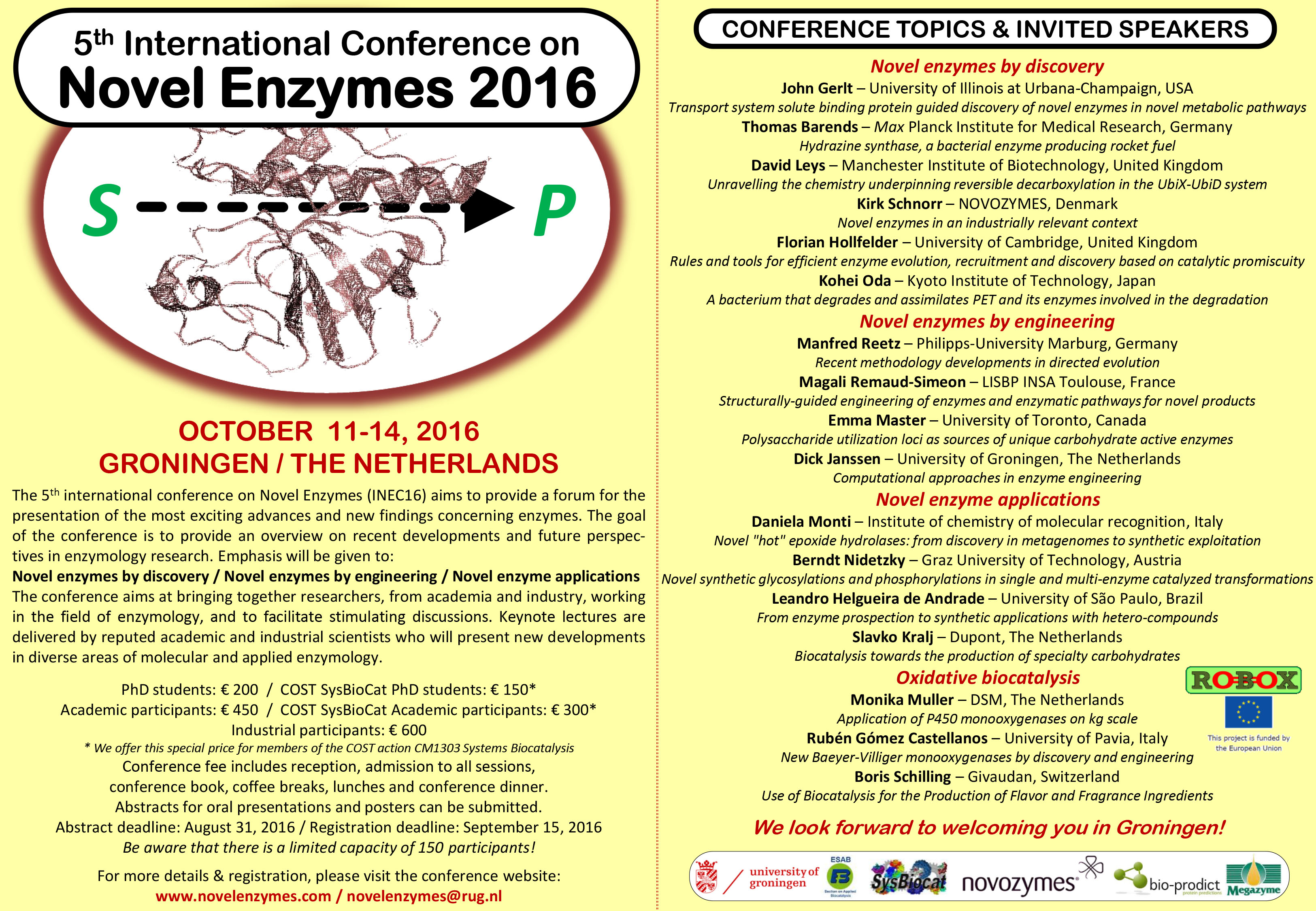 Flyer | 5th International Conference on Novel Enzymes | Study at GBB