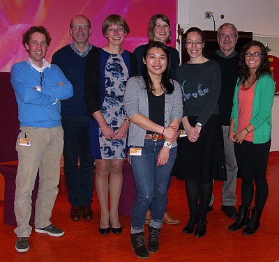 From left to right: Eelco Dulfer, Luuk Kalverdijk, Conny van Ravenswaaij, Nicole Corsten (rear), Monica Wong, Christa de Geus, Tim Hartshorne, Mandy Odren