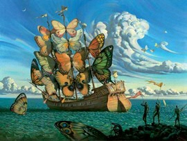 Ship with Butterfly Sails - Dalí