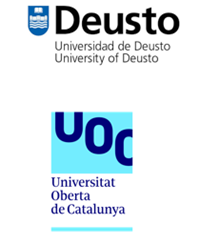 Logo's of the University of Deusto and the Open University of Catalonia