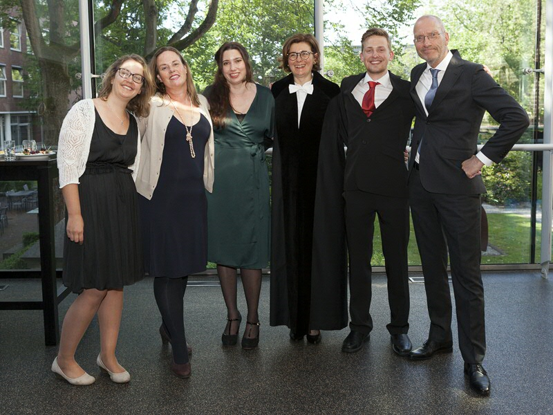 From left to right: Joanka van der Laan, Margriet Hoogvliet, Johanneke Uphoff, Sabrina Corbellini, Giel Maan, Bart Ramakers.