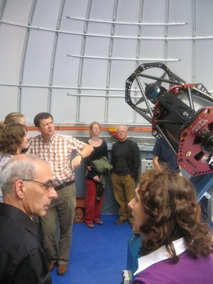 The Gratama Telescope in the dome of the Blaauw Observatory.