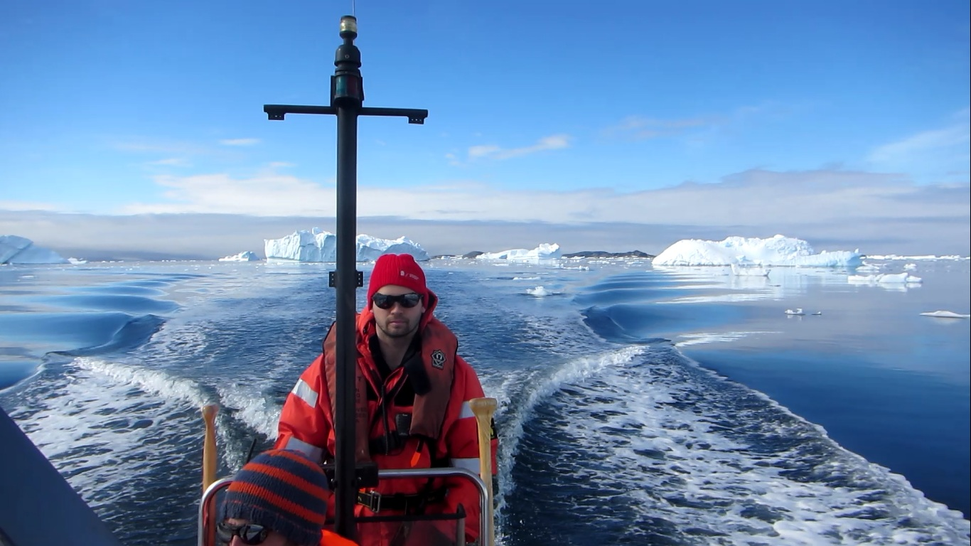 Photo of Patrick Rozema during fieldwork in the Antarctic - (c) Patrick Rozema