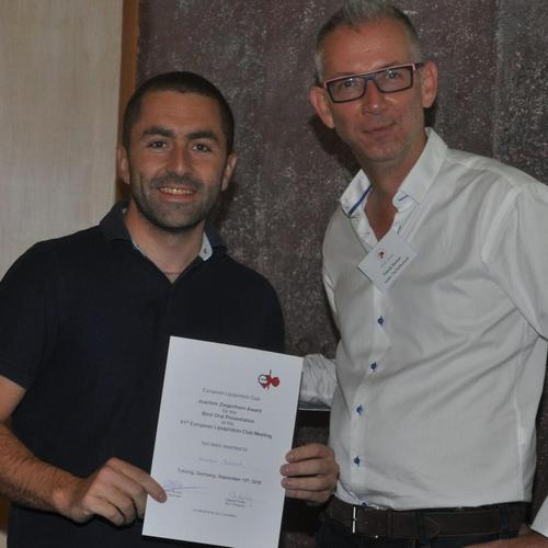 Antoine Rimbert was awarded the: Young Investigator award 2018, on the 41st ELC meeting 10-13/9/2018, Tutzing, Germany