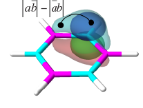 Borazine described using Valence Bond theory