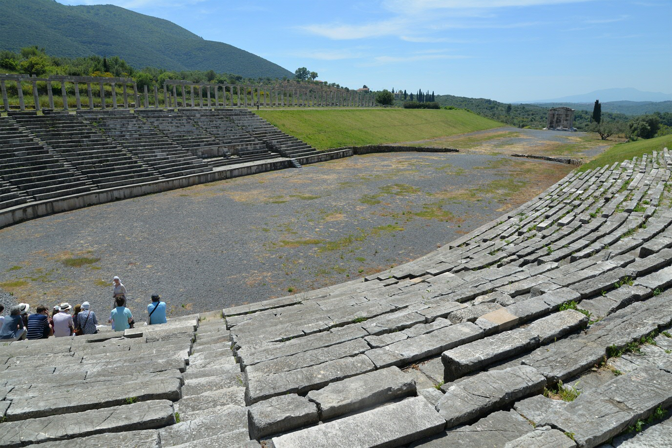 Ancient stadion at Messene