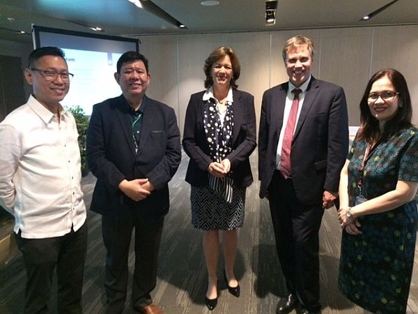Prof. Holzhacker meeting the Netherlands Ambassador to the Philippines, Ms. Marion Derckx with colleagues from De La Salle University