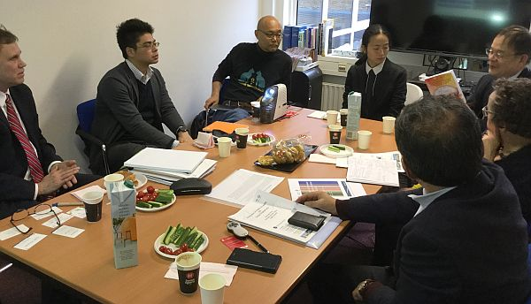 Delegation from Japan visiting the Osaka European Center in Groningen