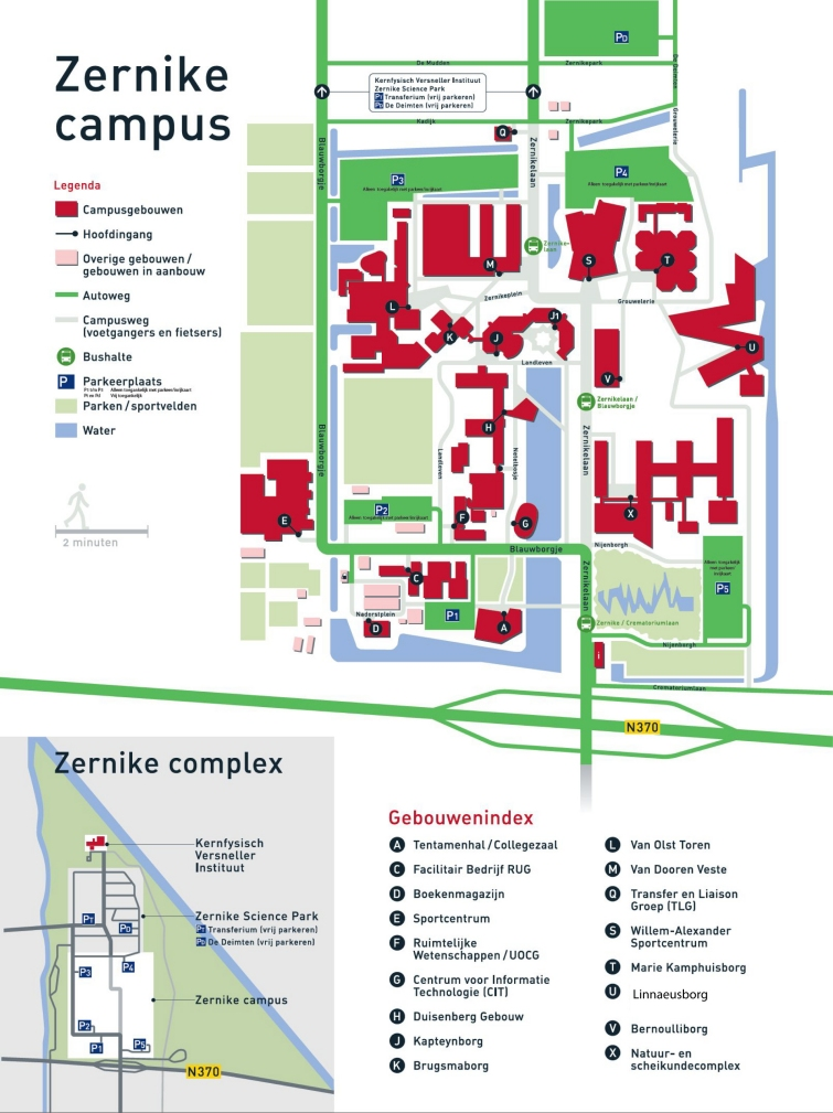 Zernike Campus map