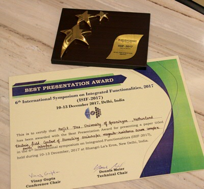 Best Presentation Award at ISIF-2017 for Arijit Das