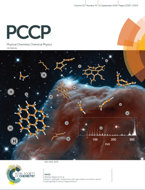 PCCP cover September 21 2018 highlighting our work on coronene hydrogenation