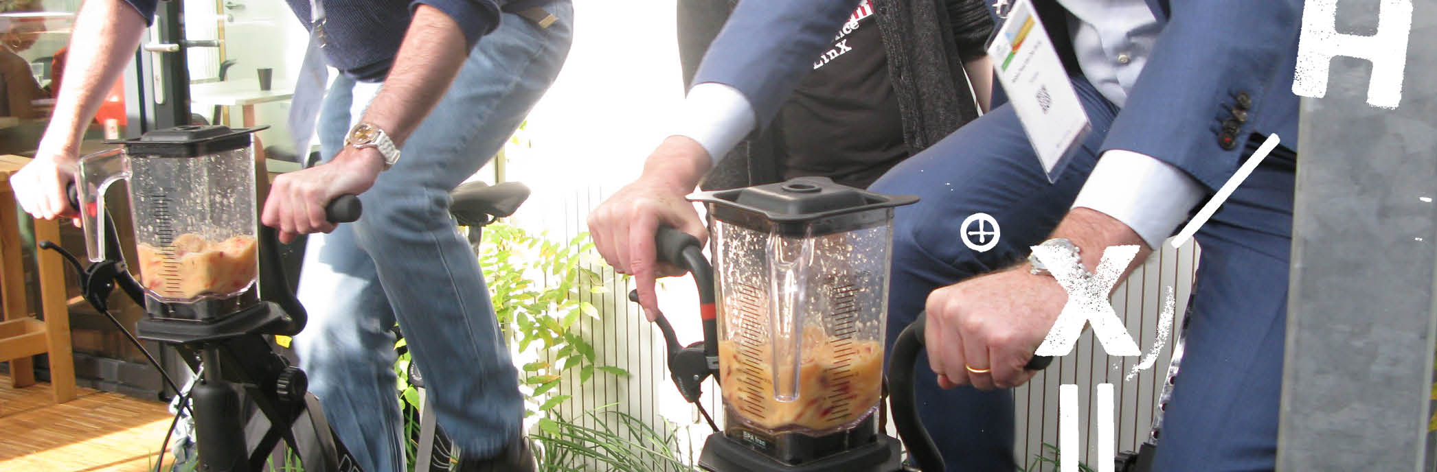 Flashback Climate Conference - cycling energy smoothies!