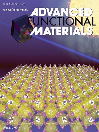 Perovskite on the cover of Advanced Functional Materials
