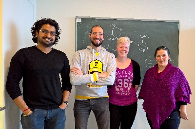 The four authors of the Science article; Veenstra is second from right | Photo Harutyunyan's lab