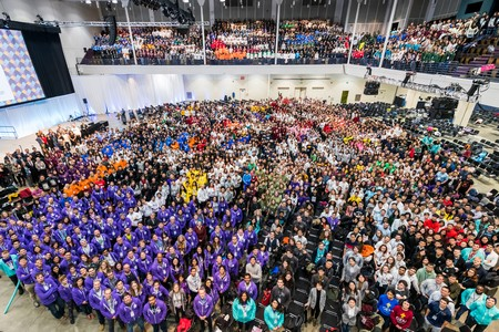 All 2018 participants gathered in the Hynes Convention Center | Photo iGEM