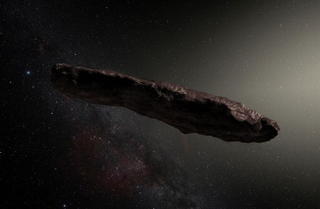 Artistic impression of interstellar visitor 'Oumuamua | ESO / M. Kornmesser
