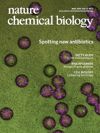 A photo from the study appears on the cover of Nature Chemical Biology | Illustration Nature.