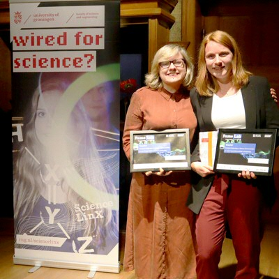 The winners: Kateryna Frantseva and Anouk Willems | Photo Science LinX