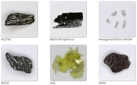 Crystals from the HQ Graphene catalogue | Image HQ Grahpene
