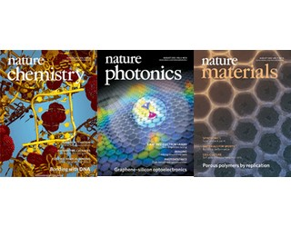 Covers of three Nature journals