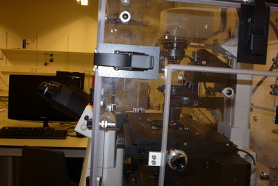 Time lapse microscope with see-through climate chamber