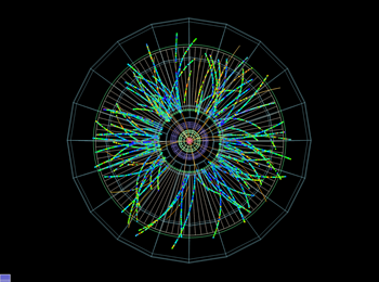 Visualization of orbits covered by subatomic particles.