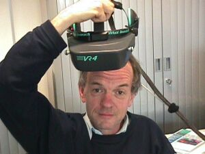 wearing a head mounted display