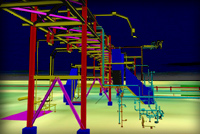 Visualisation of a gas treatment installation