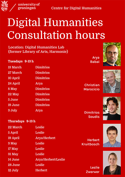 Digital Humanities Consulting Hours